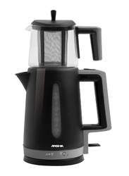 Arshia 1.7L Plastic Turkish Tea Maker, 2400W, TO64, Black