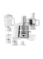 Arshia 6-in-1 Juicer Extractor, 800W, JE786, White/Silver