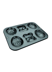 Ibili 26cm 6 Shapes Muffin Pan, 26 x 34 cm, Black