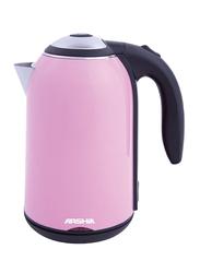 Arshia 1.7L Electric Stainless Steel Kettle, 1800W, EK622, Pink