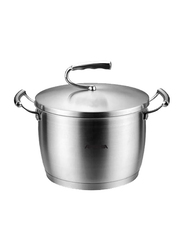 Arshia 24cm Stainless Steel Cooking Pot, 58 x 37.5 x 73.5cm, Silver