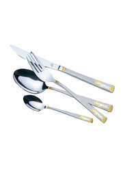 Arshia Stainless Steel Fruit Knife and Fruit Fork Set, TM270GS, Silver/Gold