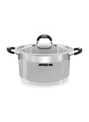 Arshia 26cm Stainless Steel Casserole with Phenolic Handle, 66 x 33.8 x 36.5cm, Silver