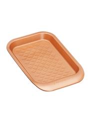 Masterclass 24cm Smart Ceramic Non-Stick Individual Rectangle Baking Tray, 24 x 15cm, Orange