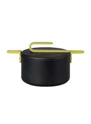 TVS 20cm Hook Casserole, 28 x 21.5 x 17cm, Black/Green