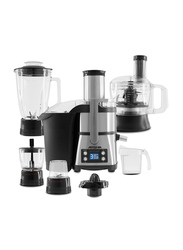 Arshia 6-in-1 Juice Extractor with LED Display, 800W, JE786, Black/Silver