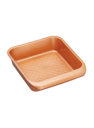 Masterclass 24cm Smart Ceramic Non-Stick Square Baking/Cake Tin Pan, 24 x 22cm, Orange