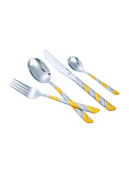 Arshia 24-Piece Stainless Steel Cutlery Set, TM116GS, Silver/Gold