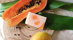 Foqa3aat Mango Papaya Soap Bar, 110 gm