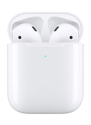 Apple AirPods In-Ear Headphones with Wireless Charging Case, White