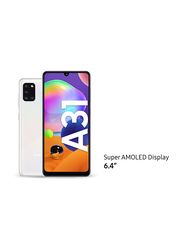 Samsung Galaxy A31 128GB Prism Crush White, 4GB RAM, 4G LTE, Dual Sim Smartphone, UAE Version
