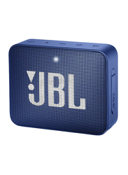 JBL Go 2 IPX7 Waterproof Portable Bluetooth Speaker, Blue
