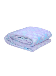 Silksaa 3D Printed Flannel Bed Blanket, 200 x 220cm, Blue, Double
