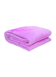 Silksaa 3D Printed Flannel Bed Blanket, 200 x 220cm, Purple, Double