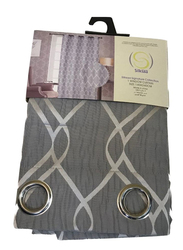 Silksaa Signature Collection Jacquard Window Curtain, Grey