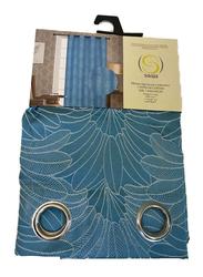 Silksaa Signature Collection Jacquard Window Curtain, Blue