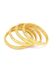 Florence Collection 4-Pieces Gold Plated Copper Butterfly Bangle Bracelet for Women, Gold