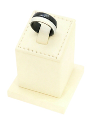 Florence Collection Two Tone Design Stainless Steel Round Ring for Men, Black/Silver, Free Size