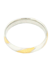 Florence Collection Two Tone Stainless Steel Round Ring for Men, Silver/Gold, Free Size