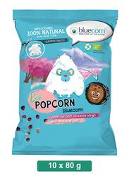 Blue Corn Organic Popcorn with Himalayan Salt, 10 Packets x 80g