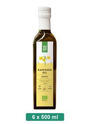 Auga Organic Rapeseed Oil, 6 Bottles x 500ml