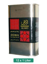 Al Ard Organic Palestinian Extra Virgin Olive Oil, 12 Tins x 1 Liter