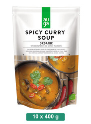Auga Organic Spicy Curry Soup, 10 Packets x 400g