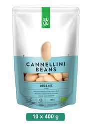 Auga Organic White Beans in Brine, 10 Packets x 400g