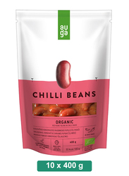 Auga Organic Red Beans in Spicy Sauce, 10 Packets x 400g