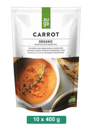 Auga Organic Carrot Soup with Coconut Milk, 10 Packets x 400g