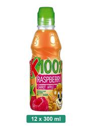 Kubus 100% Raspberry, Carrot, Apple Juice, 12 Bottles x 300ml