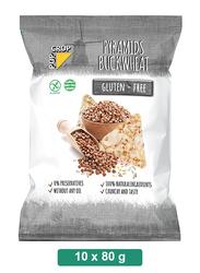 Pop Crop Gluten-Free Pyramids Buckwheat, 10 Packets x 80g