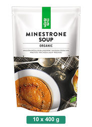 Auga Organic Minestrone Soup, 10 Packets x 400g