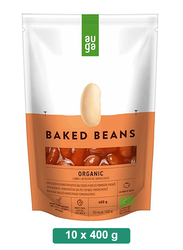 Auga Organic White Beans in Tomato Sauce, 10 Packets x 400g