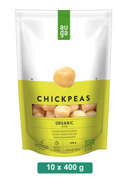 Auga Organic Chickpeas in Brine, 10 Packets x 400g