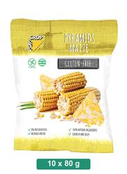 Pop Crop Gluten-Free Corn Pyramids Maize, 10 Packets x 80g