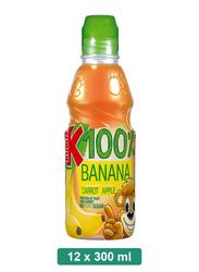 Kubus 100% Banana, Carrot, Apple Juice, 12 Bottles x 300ml