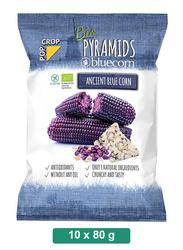 Pop Crop Organic Gluten-Free Pyramids Blue Corn, 10 Packets x 80g