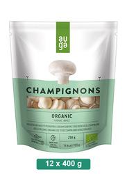 Auga Organic Champignons Whole in Brine, 12 x 400g