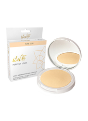 Iba Perfect Look Long-Wear Mattifying Compact Powder, 9gm, 00 Snow White, Beige