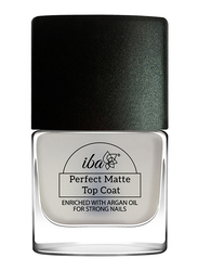 Iba Perfect Matte Argan Oil Enriched Top Coat, 9ml, Clear