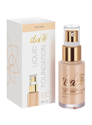 Iba Pure Skin SPF 15 Liquid Foundation, 30ml, 01 Ivory Fair, Beige