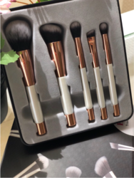 Coco Jar Travel Makeup Brushes Set, 5 Pieces