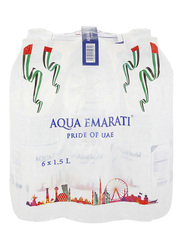 Aqua Emarati Natural Mineral Water, 6 Pet Bottles x 1.5 Liter