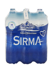 Sirma Natural Mineral Water, 6 Pet Bottles x 1 Liter
