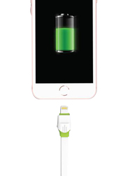Touchmate 2-Meter Lightning Charge and Data Sync Cable, High-Speed 2.4A USB Type A Male to Lightning for Apple Devices, White