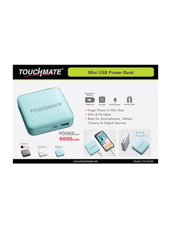 Touchmate 6000mAh TM-EC600 Mini Power Bank with Micro-USB Input, Black