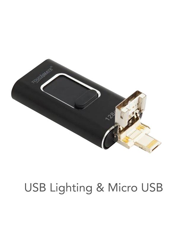 Touchmate 128GB 4-in-1 Smartphone USB Drive, TM-USB128GQ, Black