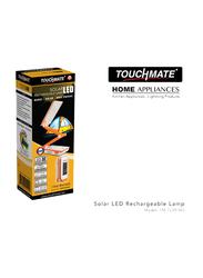 Touchmate Solar LED Rechargeable Table Lamp, TM-TL201WS, Orange/White