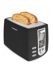 Touchmate 2-Slice Toaster, 800W, TM-TS200, Black